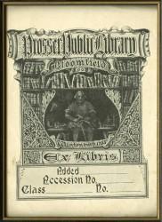 Prosser Library bookplate