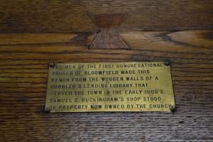Prosser Library bench