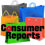 Consumer Reports logo with shopping bags