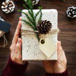 hands holding handmade gift box