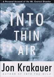 Into Thin Air by Jon Krakauer book cover