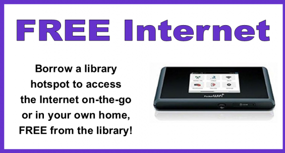 get free internet by borrowing a library hotspot