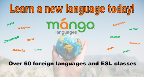 Learn a new language today with Mango Languages