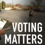 Voting Matters woman with clipboard
