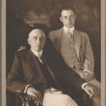 antique photo of two men in formal dress