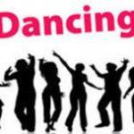 Line Dancing with shadow figures dancing
