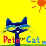 Pete the Cat blue cat wearing sunglasses on sunny day