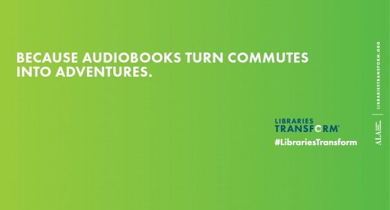 because audiobooks turn commutes into adventures