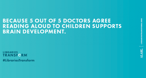 Because 5 out of 5 doctors agree reading aloud to children supports brain development