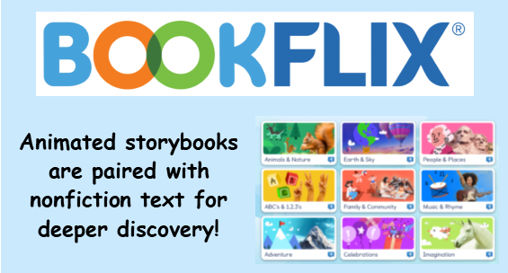 Bookflix pairs animated storybooks with nonfiction text