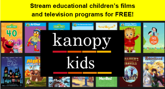 Stream educational children's films and television with Kanopy Kids
