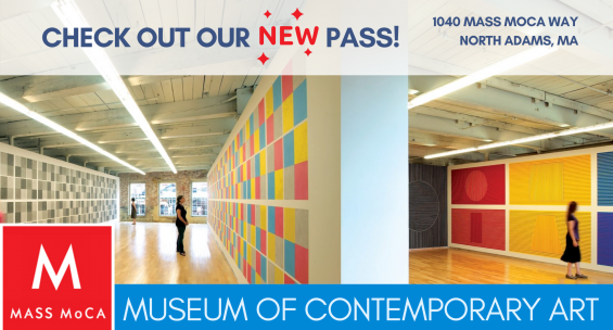New museum pass to Massachusetts Museum of Contemporary Art