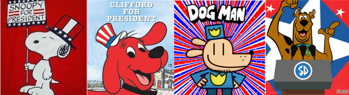 Snoopy, Clifford, Dog Man, Scooby-Doo
